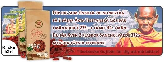 Picture of Prenumeration : 2 paket Gojibär i månaden